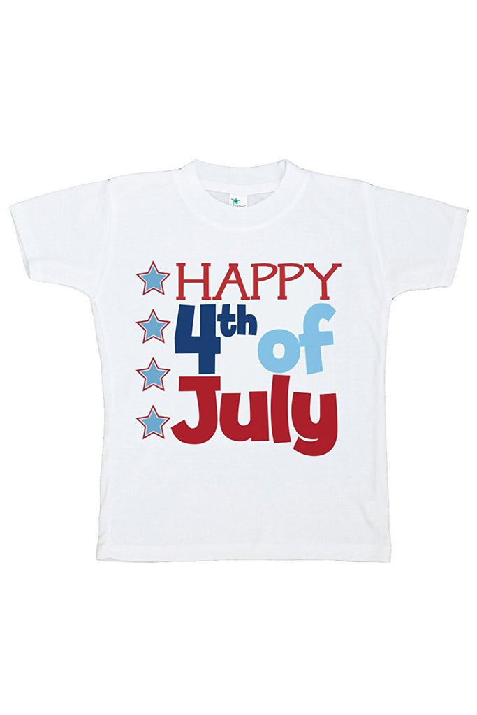 7 ate 9 Apparel Kid's Happy Fourth 4th of July T-shirt
