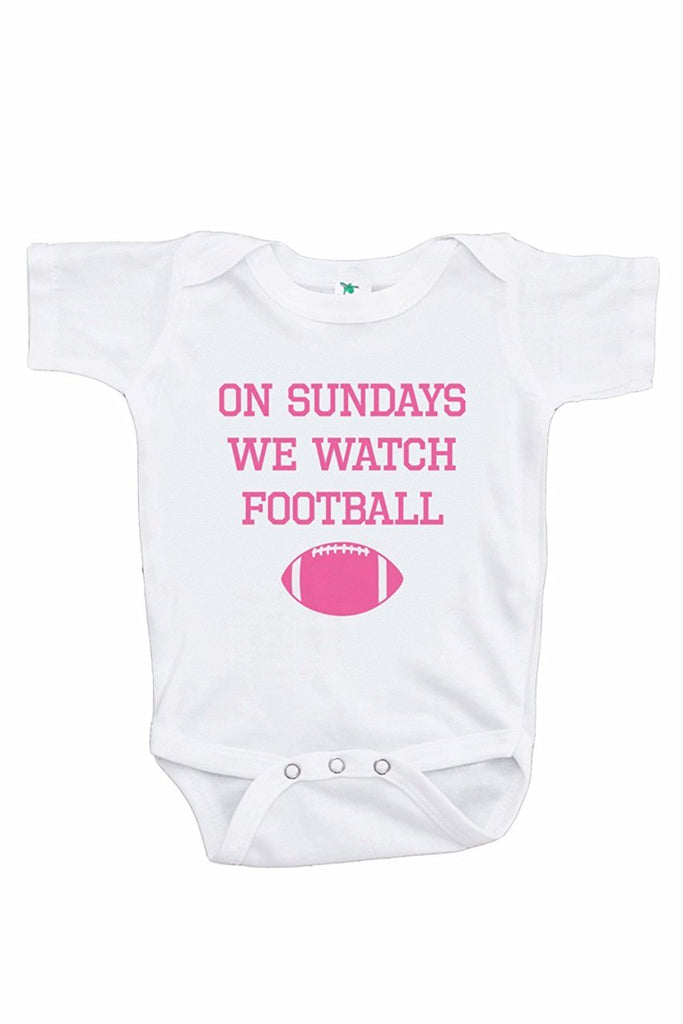 7 ate 9 Apparel Funny Kids Football Sunday Onepiece