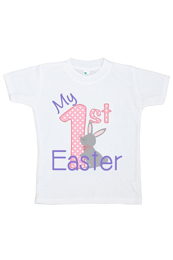 7 ate 9 Apparel My 1st Easter Girls' Novelty Easter Tshirt