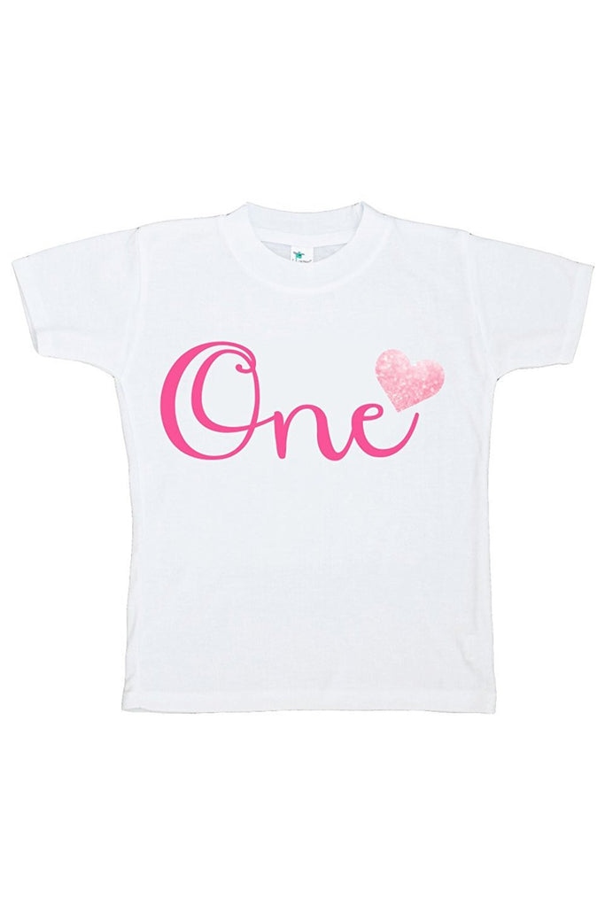 7 ate 9 Apparel Baby Girls' Novelty First Birthday One Onepiece Outfit 2T Pink
