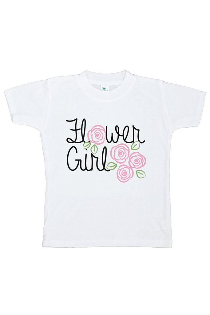 7 ate 9 Apparel Toddler Girl's Flower Girl Wedding T-shirt