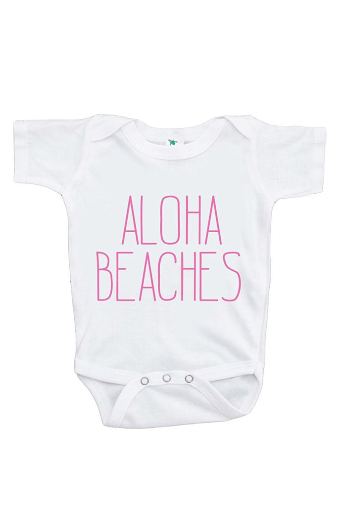 7 ate 9 Apparel Baby's Aloha Beaches Summer Onepiece