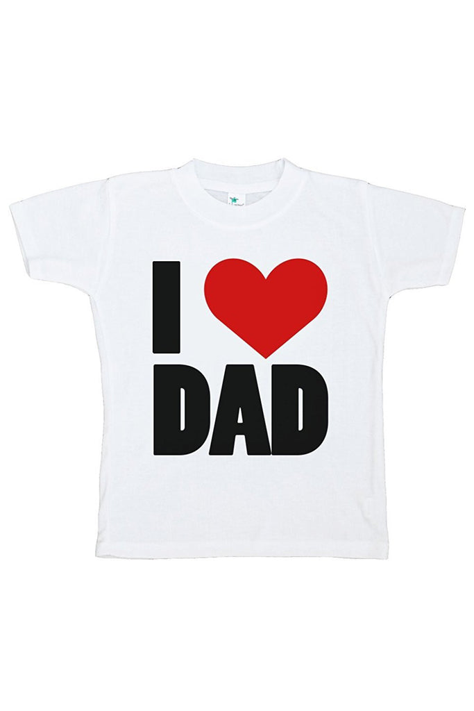 7 ate 9 Apparel Boy's Novelty I Heart Dad T-shirt