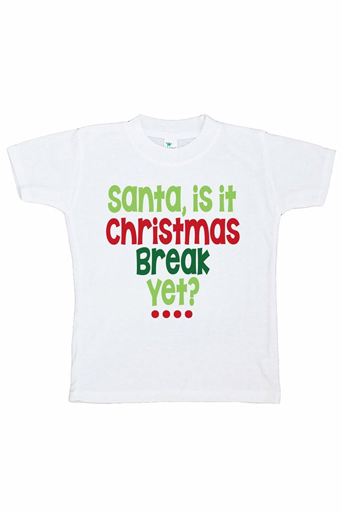 7 ate 9 Apparel Kids Funny Santa Christmas T-shirt