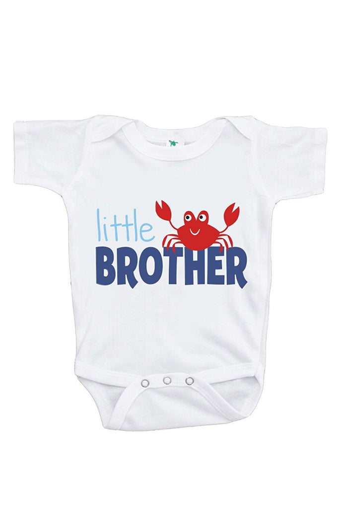 7 ate 9 Apparel Baby Boy's Little Brother Summer Onepiece