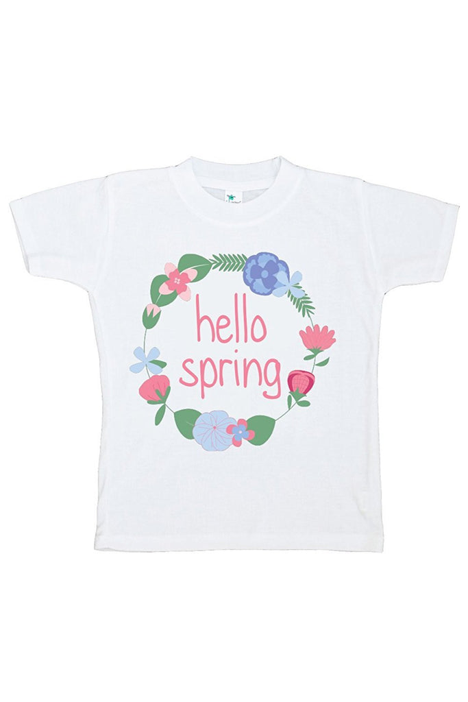 7 ate 9 Apparel Hello Spring Girls' Novelty Tshirt