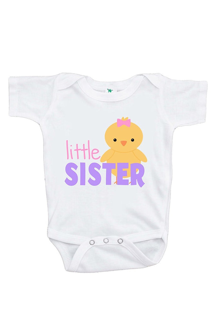 7 ate 9 Apparel Baby Girls' Little Sister Easter Onepiece