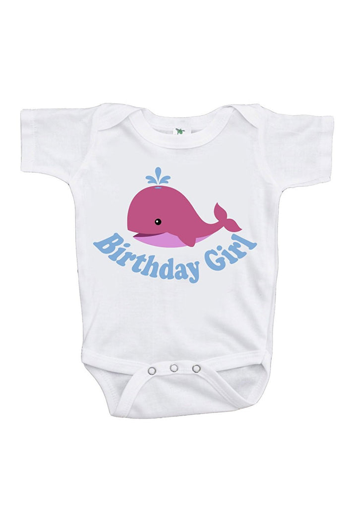 7 ate 9 Apparel Baby Whale First Birthday Onepiece Outfit