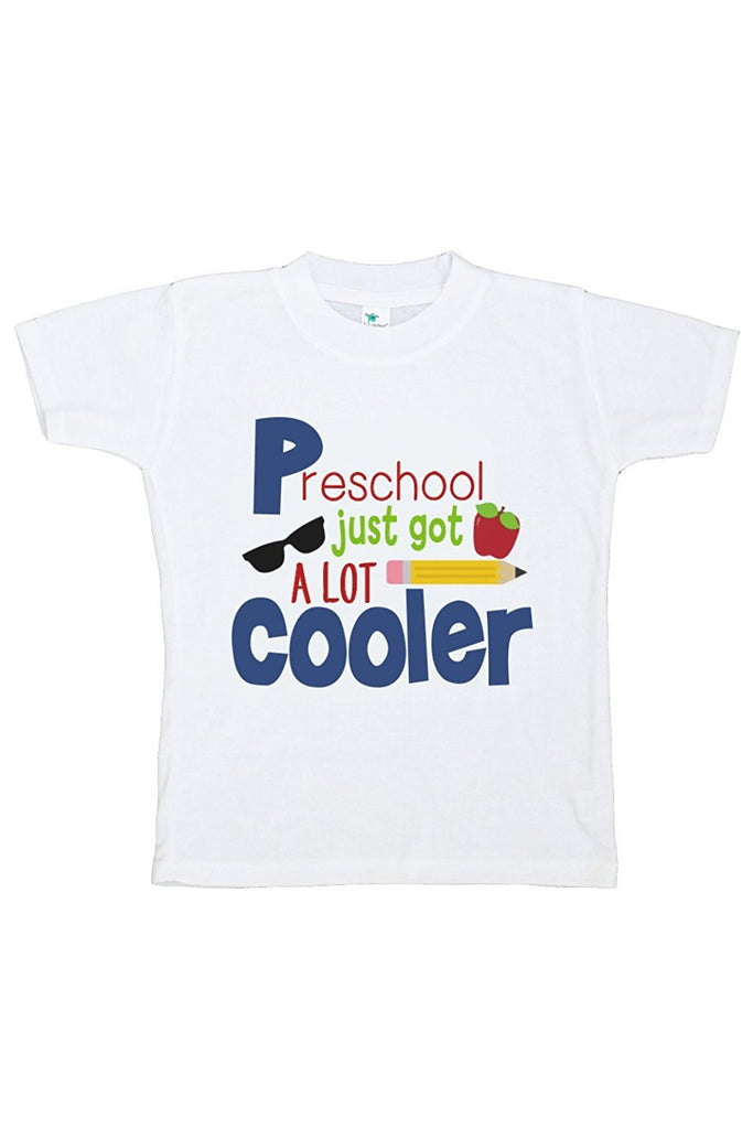 7 ate 9 Apparel Kids Preschool Just Got Cooler School T-shirt