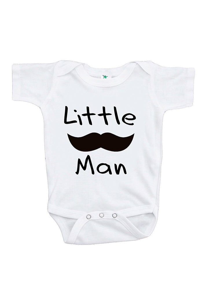 7 ate 9 Apparel Baby Boy's Mustache Little Man Onepiece