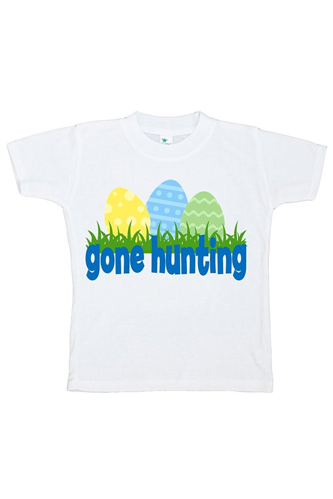 7 ate 9 Apparel Boy's Gone Hunting Novelty Easter Tshirt