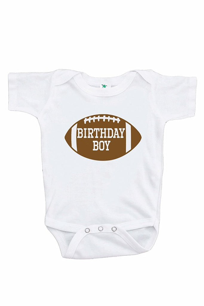 7 ate 9 Apparel Boy's Football Birthday Onepiece