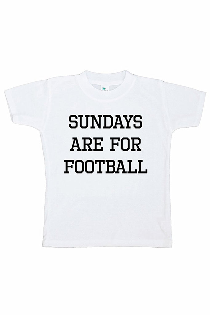 7 ate 9 Apparel Funny Kids Football Sunday T-shirt