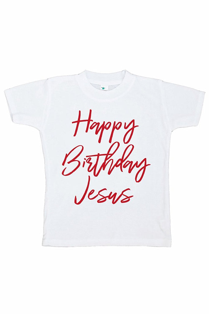 7 ate 9 Apparel Kids Happy Birthday Jesus T-shirt