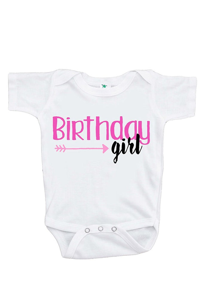 7 ate 9 Apparel Baby Girls' Novelty Arrow First Birthday Onepiece Outfit
