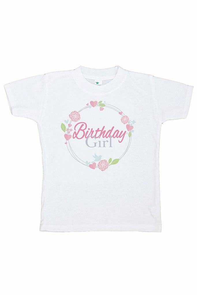 7 ate 9 Apparel Girl's Floral Birthday T-shirt