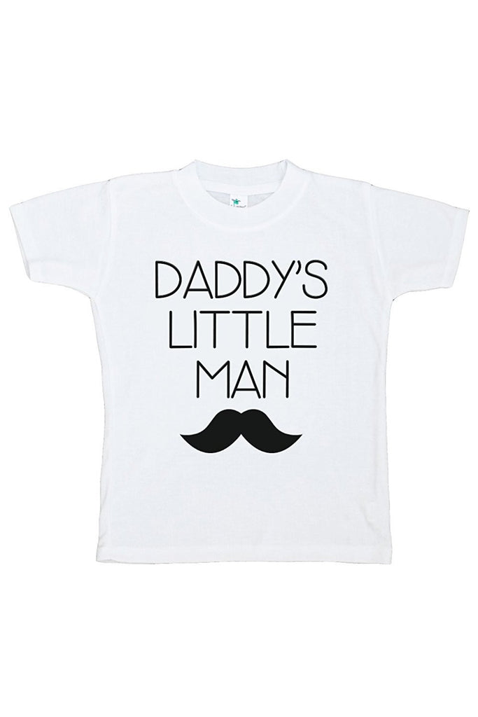 7 ate 9 Apparel Boy's Mustache Daddy's Little Man T-shirt
