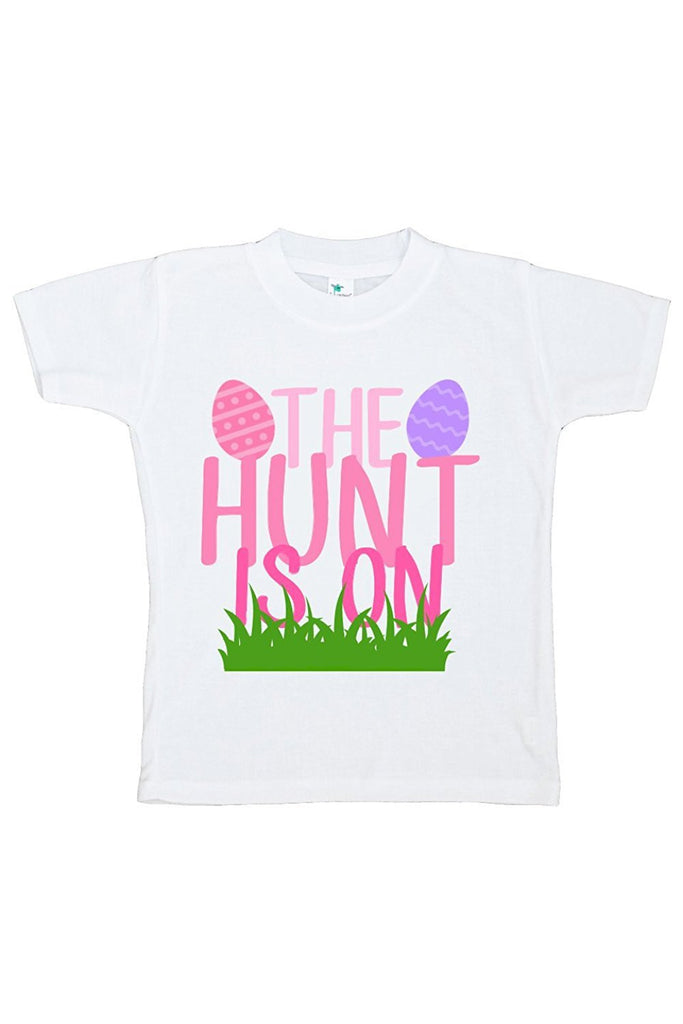 7 ate 9 Apparel The Hunt Is On Girls' Novelty Easter Tshirt