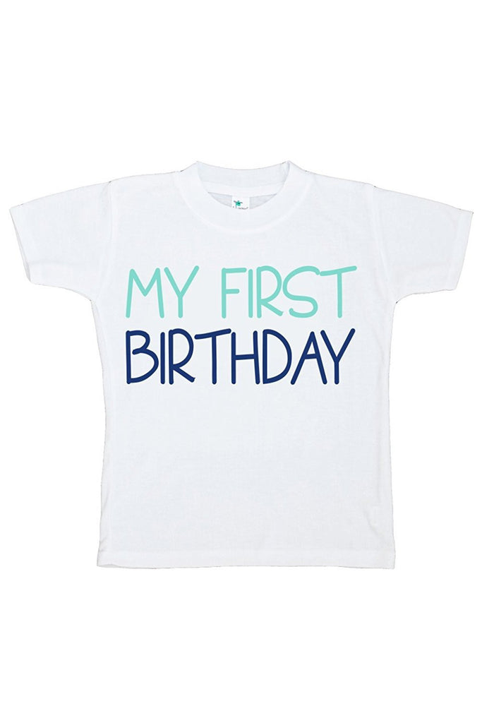 7 ate 9 Apparel Baby Boy's Novelty First Birthday Onepiece Outfit 2T Blue