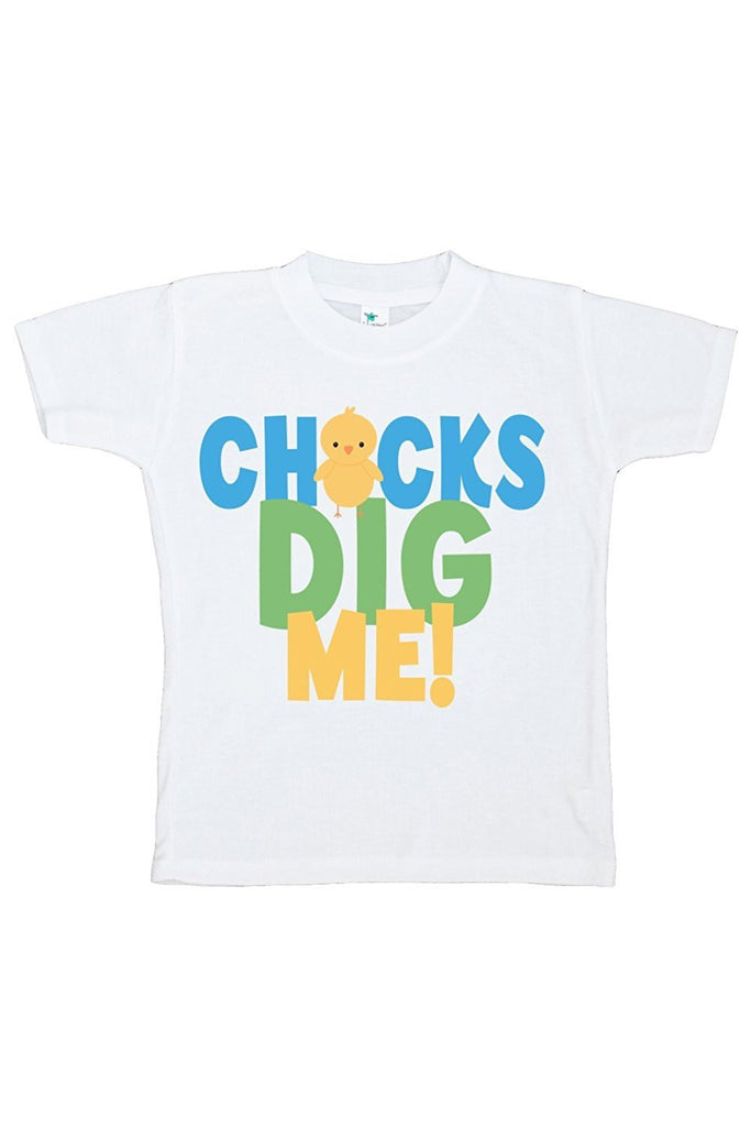 7 ate 9 Apparel Chicks Dig Me! Boy's Novelty Easter Tshirt