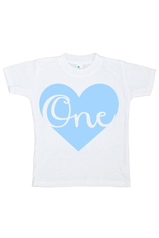 Custom Party Shop Unisex Baby's Novelty First Birthday Heart Onepiece Outfit 2T Blue