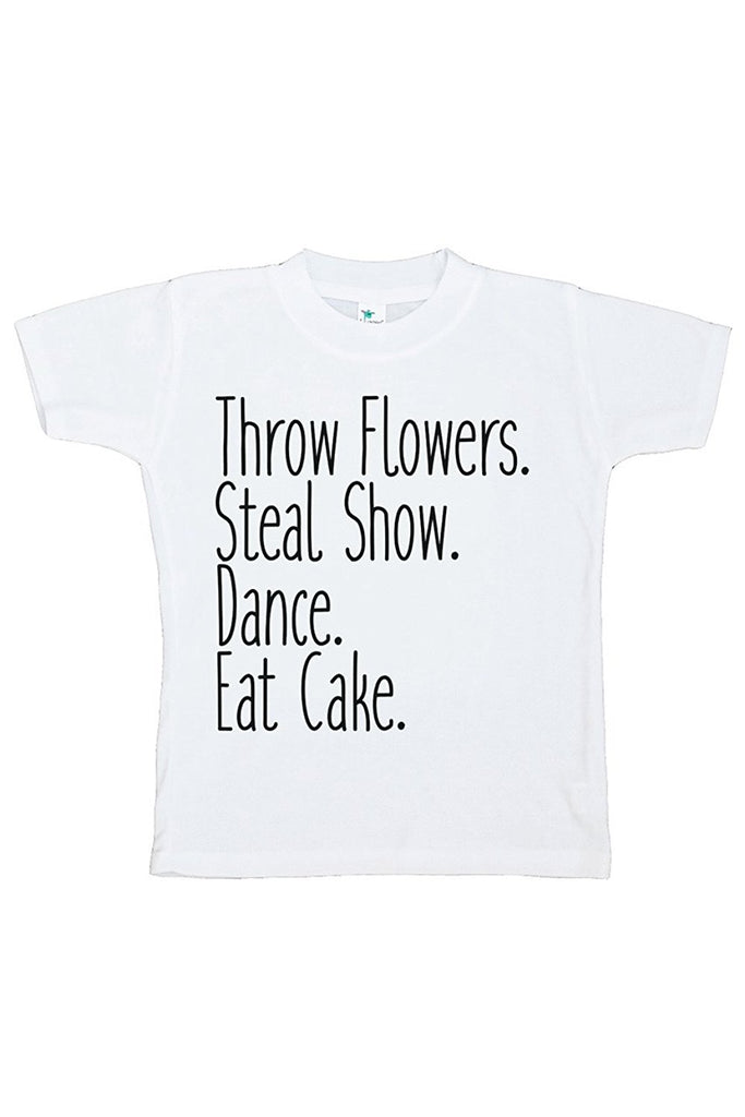 7 ate 9 Apparel Toddler Girl's Funny Wedding T-shirt