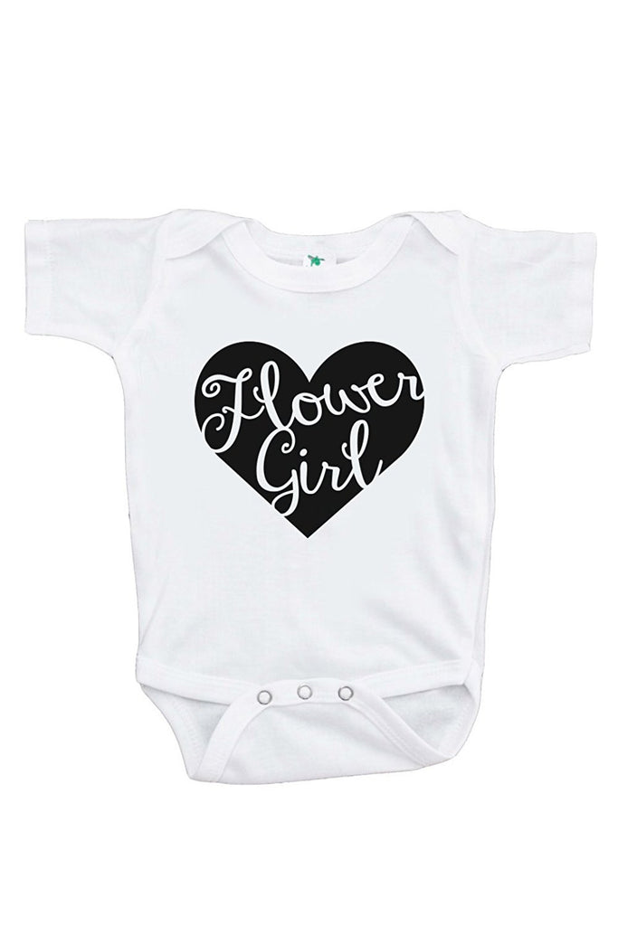 7 ate 9 Apparel Girl's Black Heart Flower Girl Wedding Onepiece