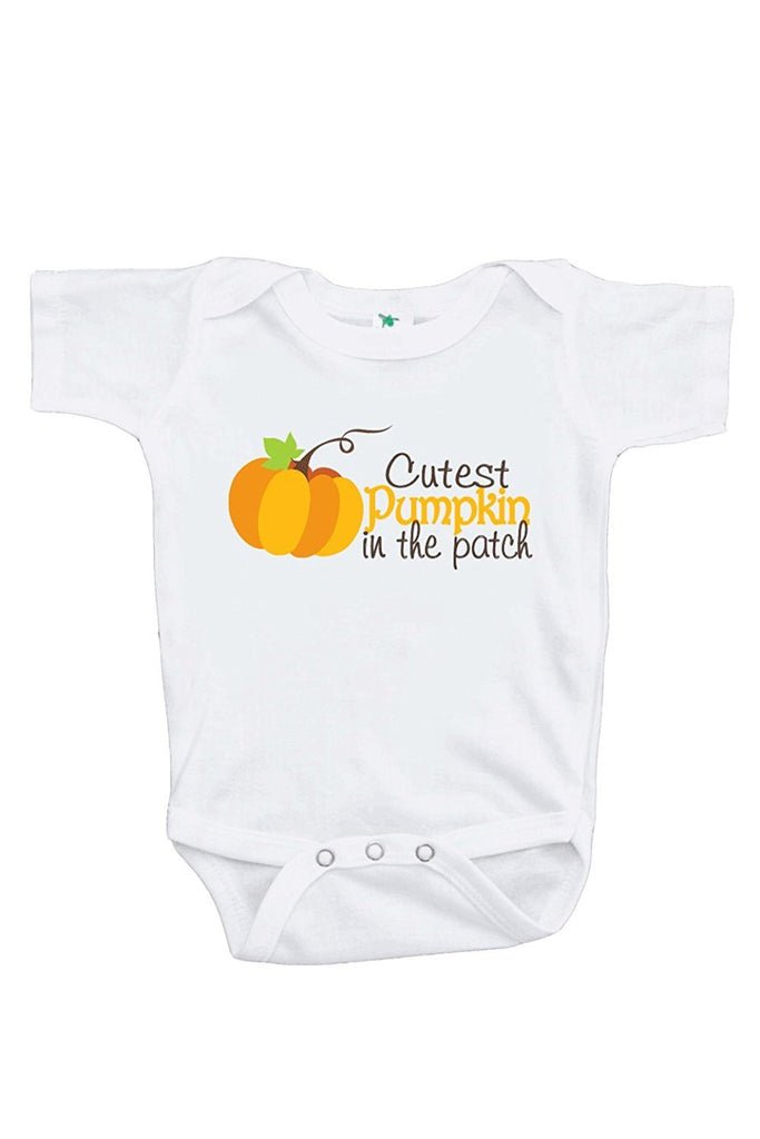 7 Ate 9 Apparel Baby Boy's Cutest Pumpkin in the Patch Onepiece