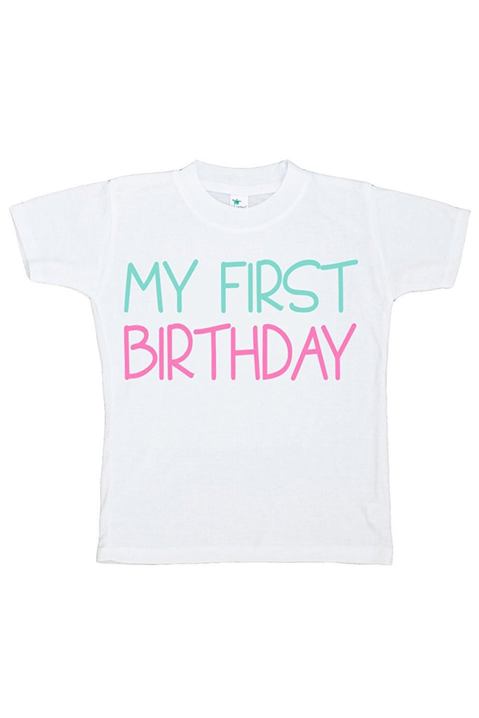 7 ate 9 Apparel Baby Girls' Novelty First Birthday Onepiece Outfit 2T Pink