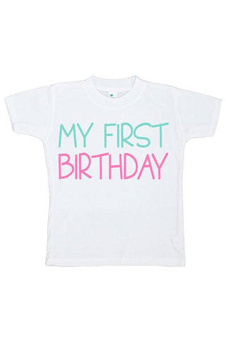 Custom Party Shop Baby Girls' Novelty First Birthday Onepiece Outfit 2T Pink