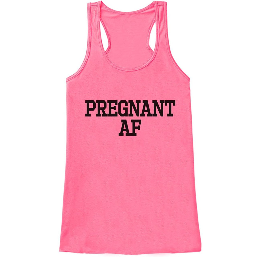 7 ate 9 Apparel Women's Pregnant AF Pregnancy Announcement Tank Top