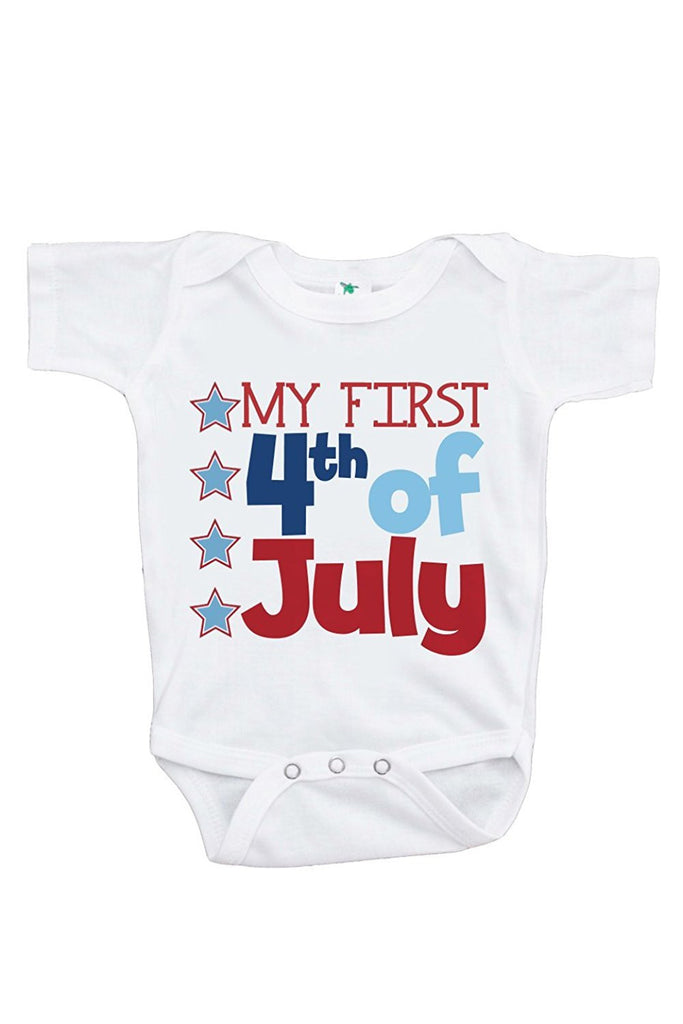 7 ate 9 Apparel Baby's First 4th of July Onepiece