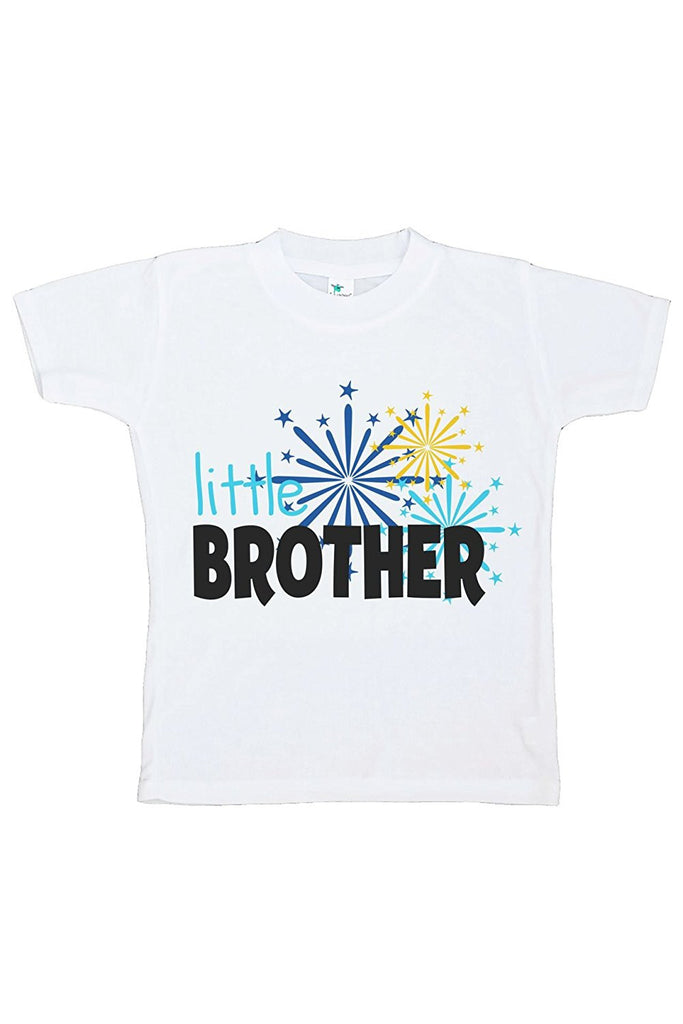 7 ate 9 Apparel Kids Little Brother Happy New Year T-shirt