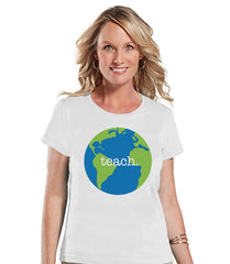 7 ate 9 Apparel Womens Teach. Globe Teacher T-shirt