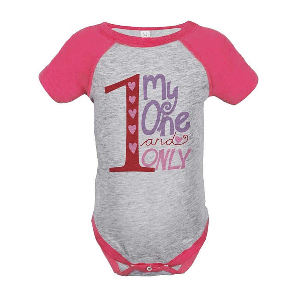 7 ate 9 Apparel Baby Girl's Valentine's Day Onepiece