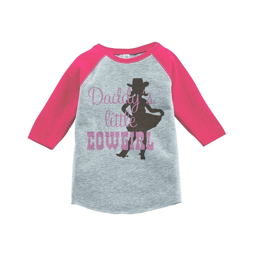7 ate 9 Apparel Girls' Novelty Cowgirl Vintage Baseball Tee
