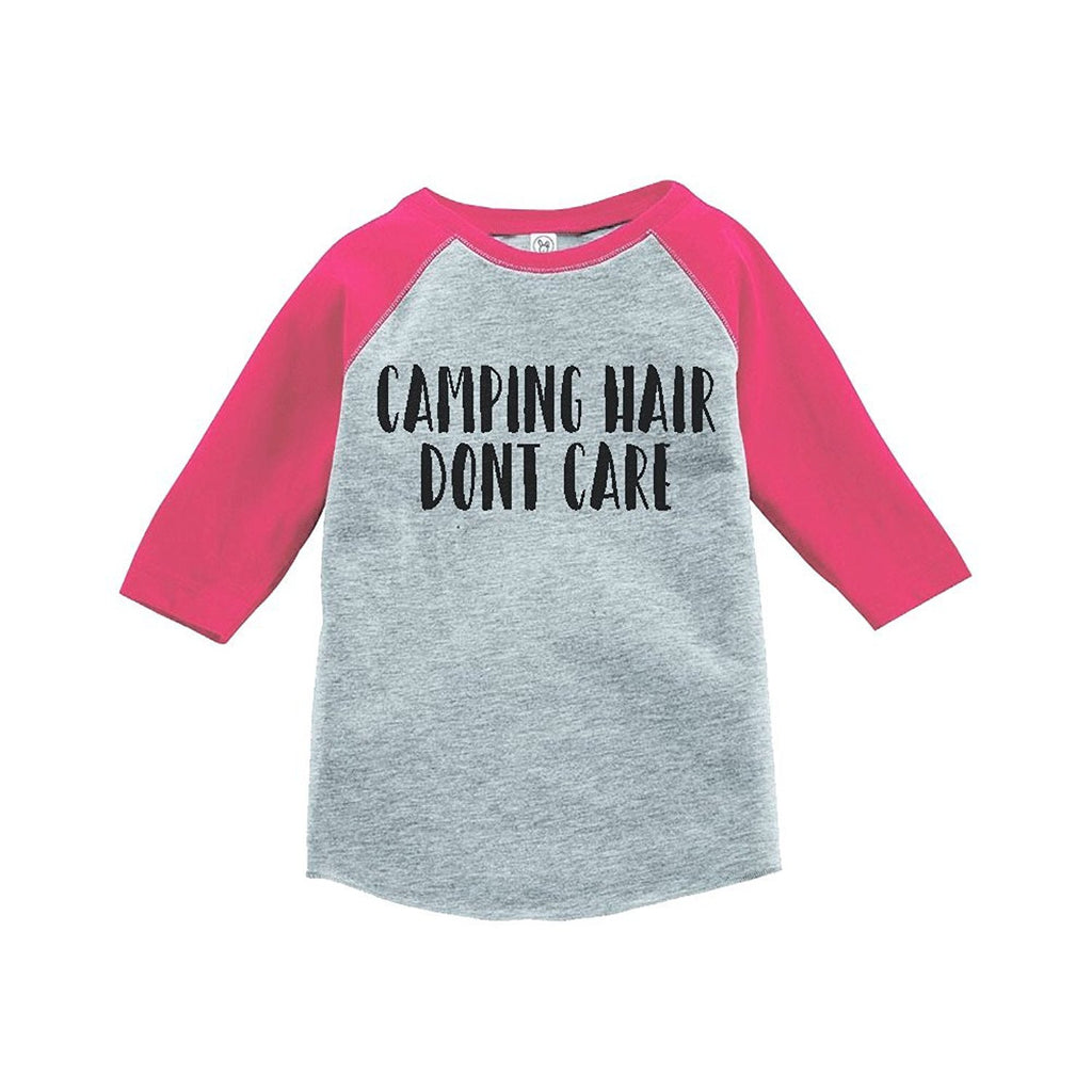 7 ate 9 Apparel Girl's Camping Hair Outdoors Raglan Tee