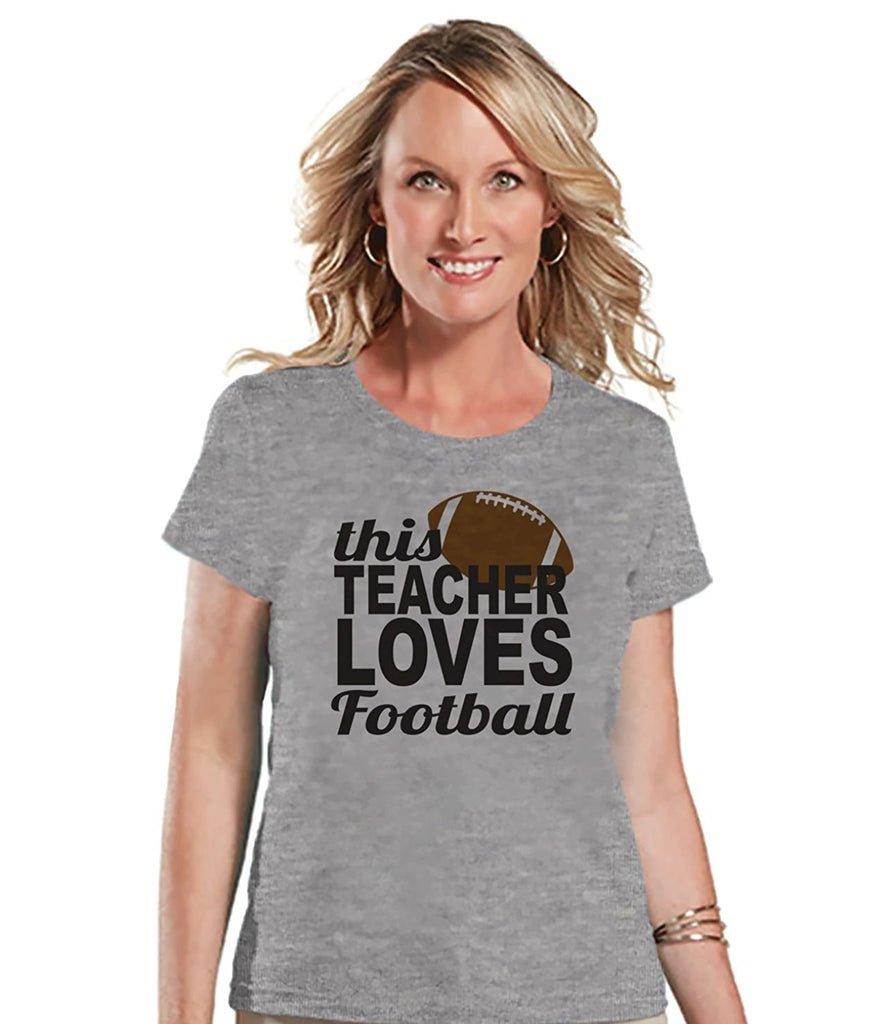 7 ate 9 Apparel Womens Football Lover Teacher T-shirt