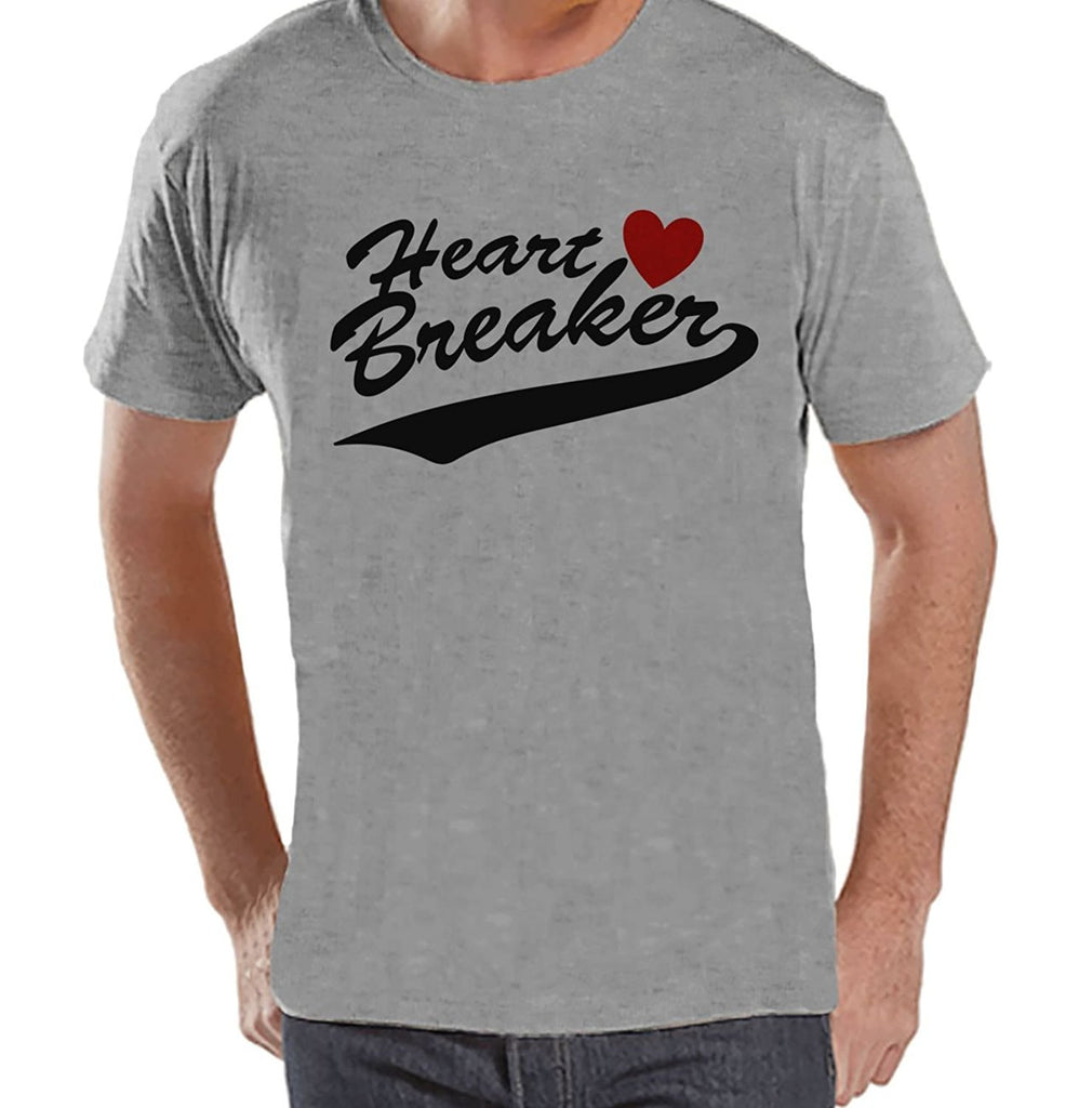7 ate 9 Apparel Men's Heart Breaker Valentine's Day T-shirt