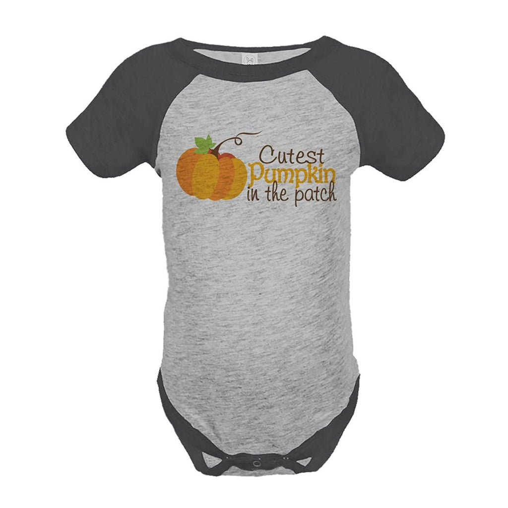 7 ate 9 Apparel Baby's Cutest Pumpkin In The Patch Thanksgiving Onepiece