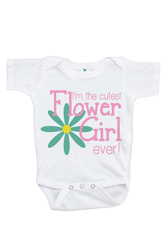7 ate 9 Apparel Girl's Cutest Flower Girl Wedding Onepiece