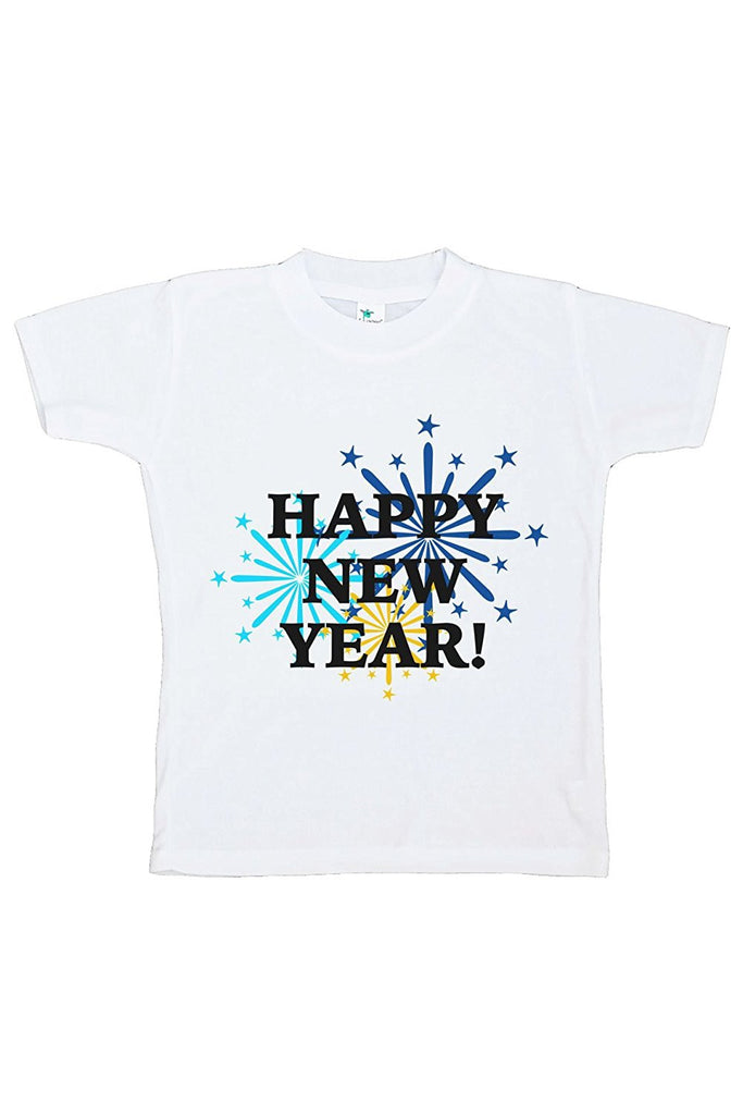7 ate 9 Apparel Kids Fireworks Happy New Year T-shirt