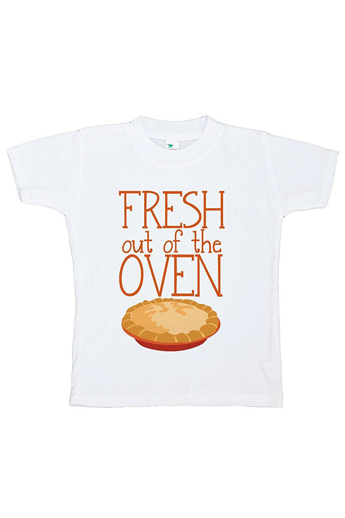 7 ate 9 Apparel Baby's Fresh Out Of The Oven Thanksgiving Tshirt
