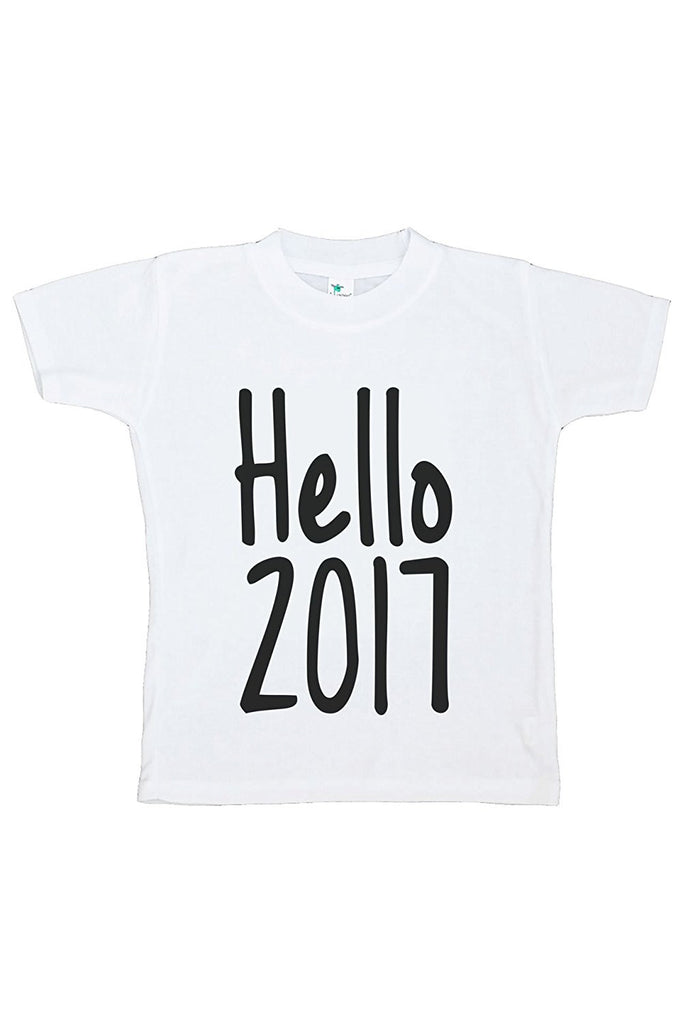 7 ate 9 Apparel Kids Hello 2017 Happy New Year T-shirt