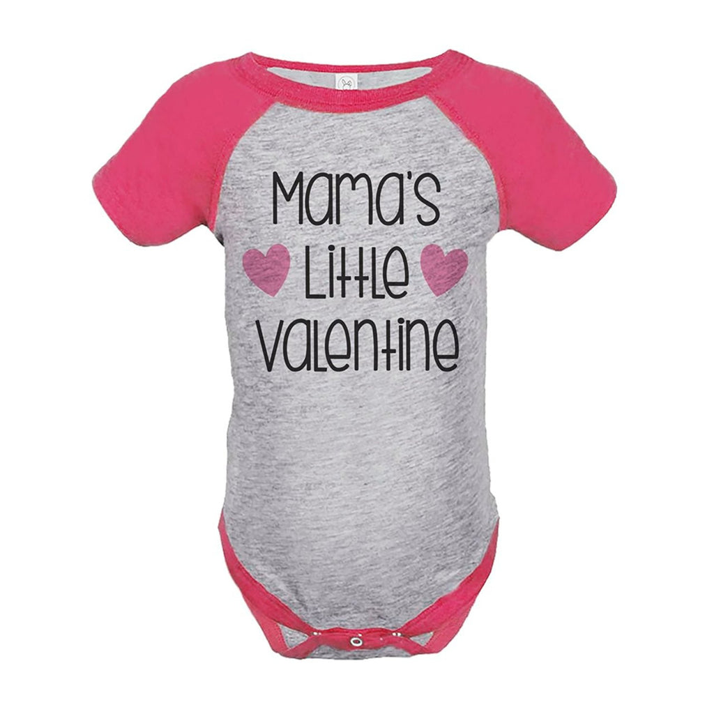 7 ate 9 Apparel Girl's Mama's Little Valentine's Day Pink Onepiece