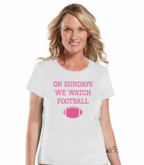7 ate 9 Apparel Womens Football T-shirt