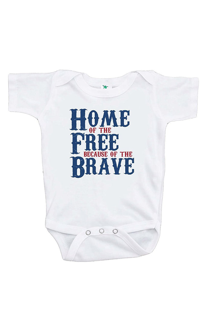7 ate 9 Apparel Kids Home of the Free 4th of July Onepiece