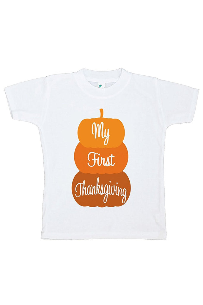 7 ate 9 Apparel Baby's First Thanksgiving Tshirt