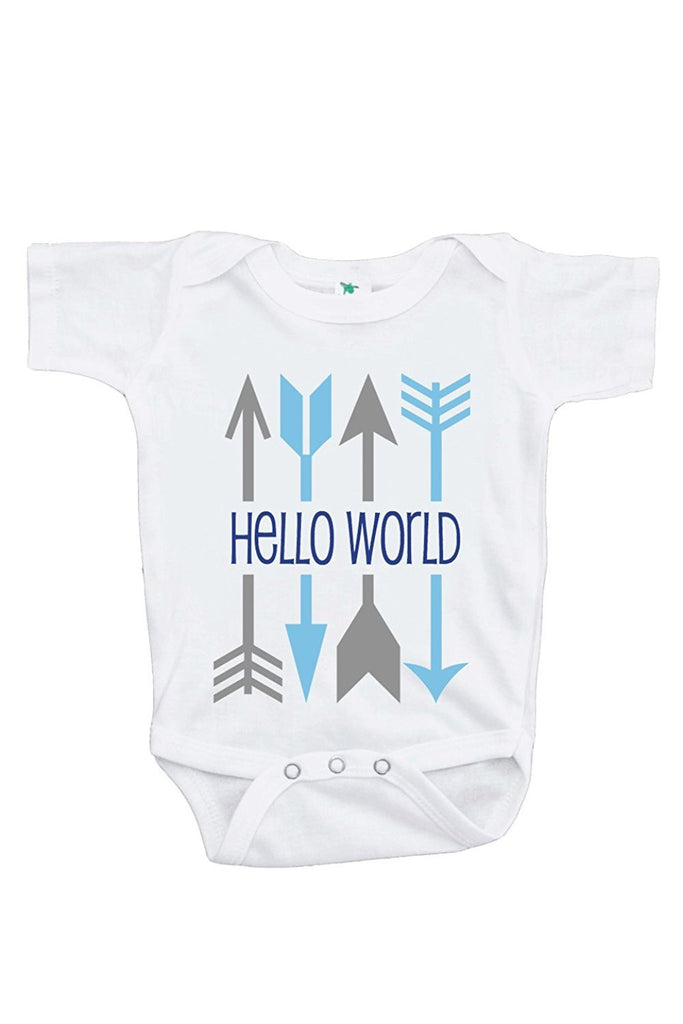 7 ate 9 Apparel Baby Boy's Hello World Onepiece