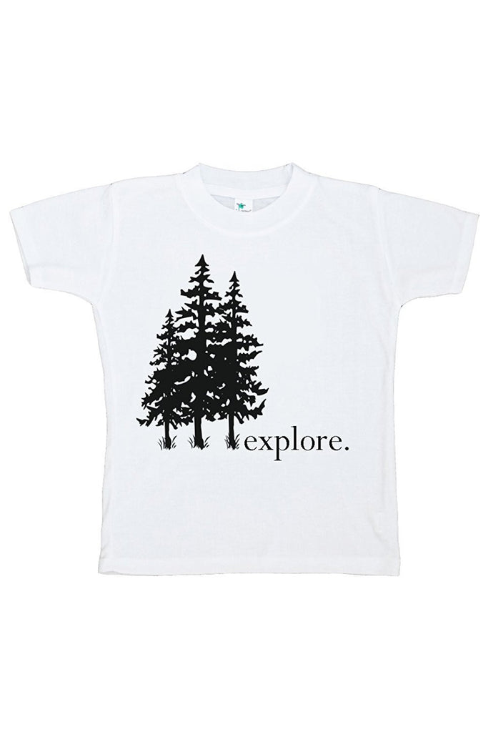 7 ate 9 Apparel Kids Explore Trees Outdoors T-shirt